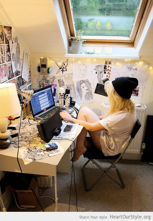 At My Room Heart Our Style Alternative Artist Beautiful Computer