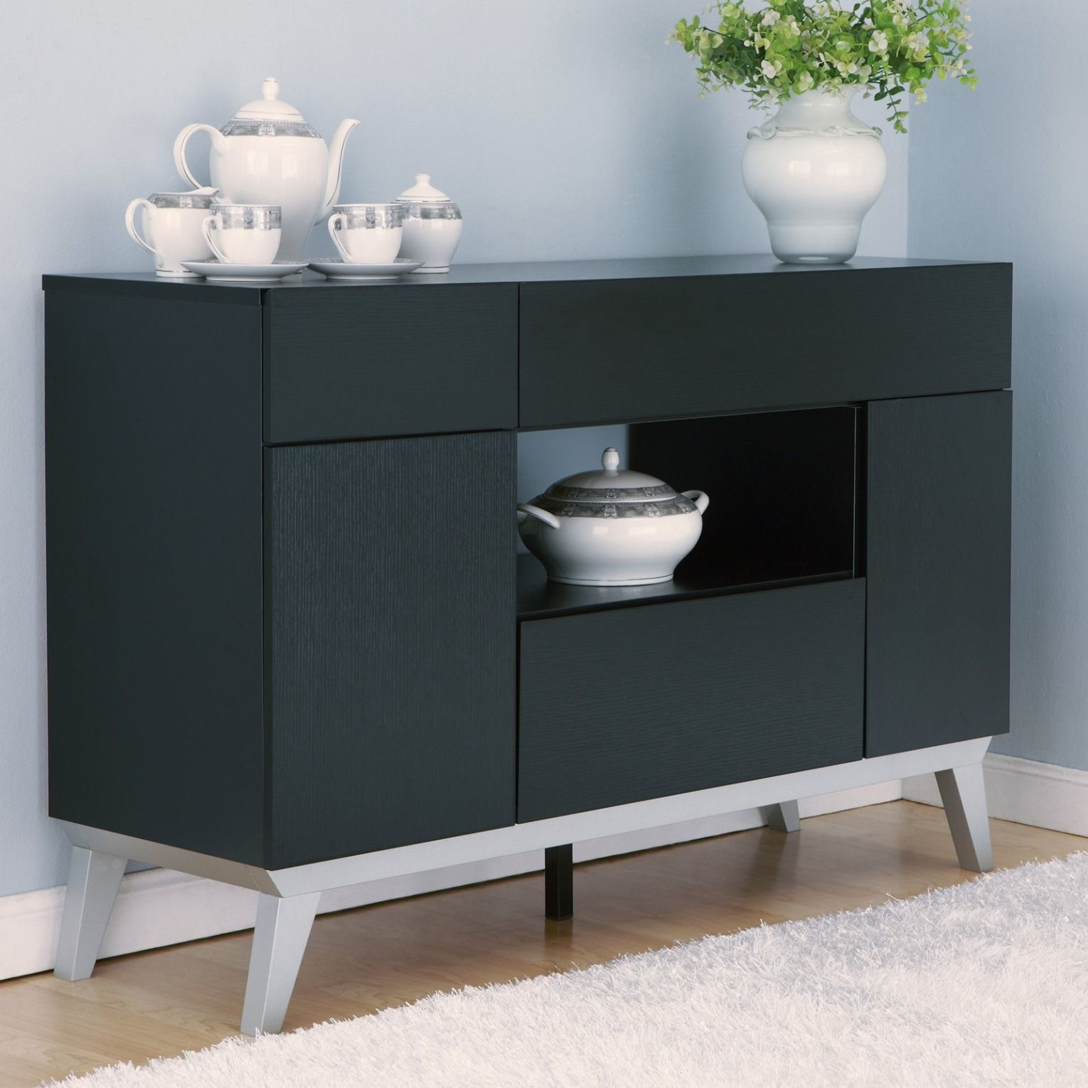 Furniture Of America Nouvel Dining Buffet Table Www Hayneedle