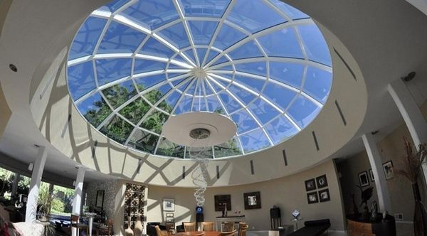 Modern Home Interior Spectacular Dome Skylight Home