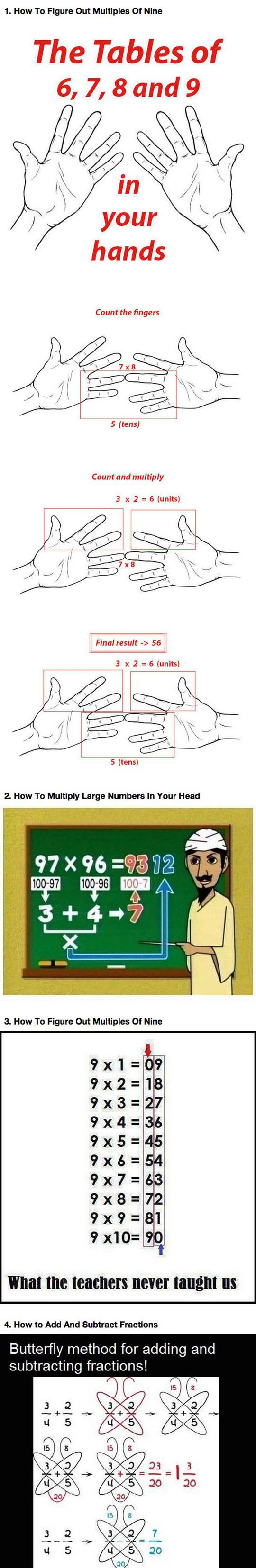 If You Re Bad At Math Learn These Simple Tricks Simple Math Learning Math Math For Kids Adding large numbers in your head