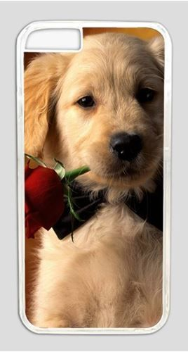 Picture of The Dog With a Rose Case for iPhone 6 PC Material Transparent