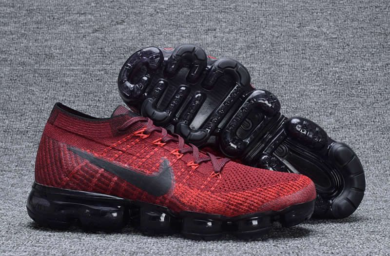 super popular 948d2 27d28 Men Nike Air Vapormax Flyknit Wine Red