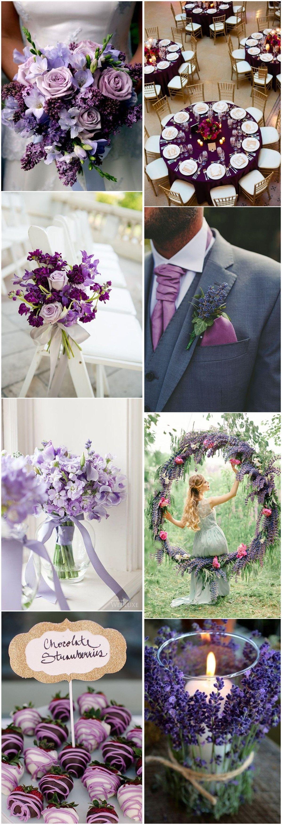 Fall wedding decor 2018  Color of    Violet Wedding Ideas You Canut Miss  Violets