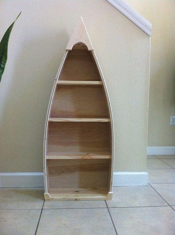 Nautical Nursery 4 Foot Row Boat Bookshelf Bookcase Canoe By