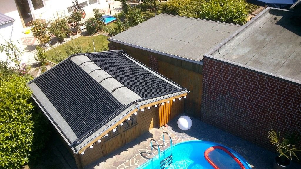 solar poolheizung auf gartenhaus 2 x 1 5m x 3 66m solar poolheizung gartenhaus solar. Black Bedroom Furniture Sets. Home Design Ideas