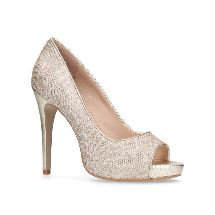 drop shipping women reasonably priced Alberta Gold High Heel Court Shoes By Carvela Kurt Geiger ...