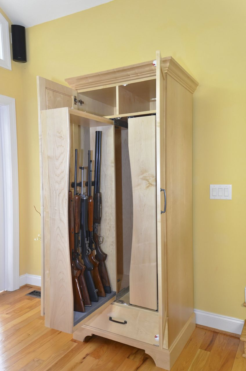 The lockable furniture gun armoire is specifically designed for gun