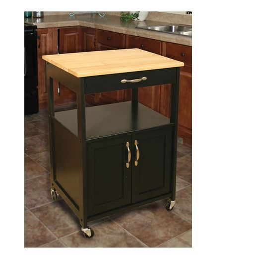 Rolling Kitchen Island Trolley Storage Cart Wood Cutting Board Portable Table