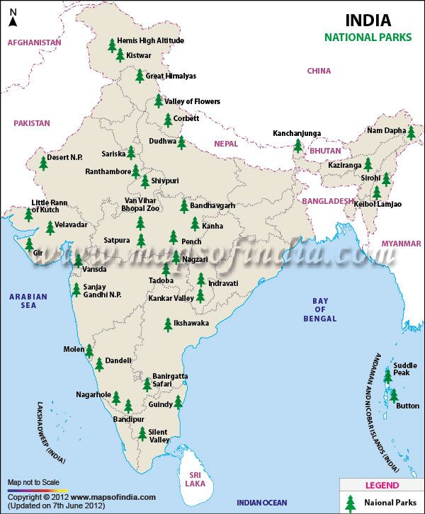 National Park In India Map National Parks in India | qa | Pinterest | India map, India and  National Park In India Map