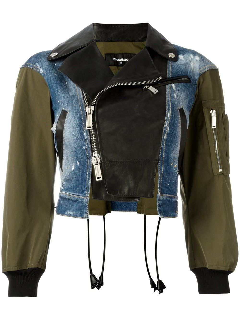 Dsquared2 triple material bomber jacket (With images