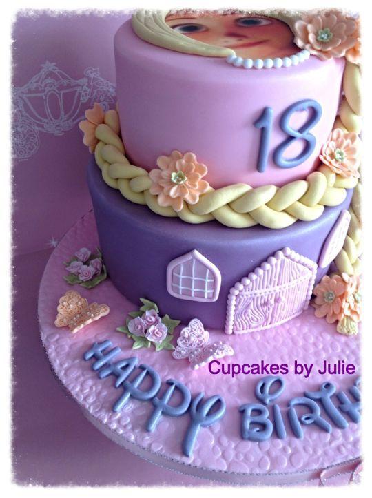 Rapunzel Cake Princess Cakes Cupcakes and Cookies Pinterest