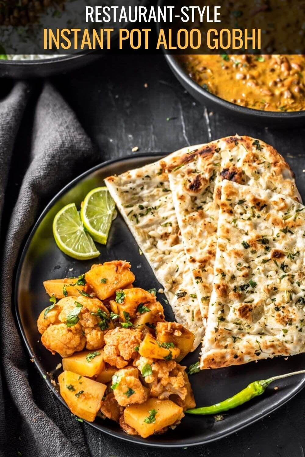 vegetarian recipes Dishes Instant Pot Punjabi Aloo Gobi Masala  This classic Indian dish made from fresh cauliflower and potatoes in an oniontomato based gravy can be mad...