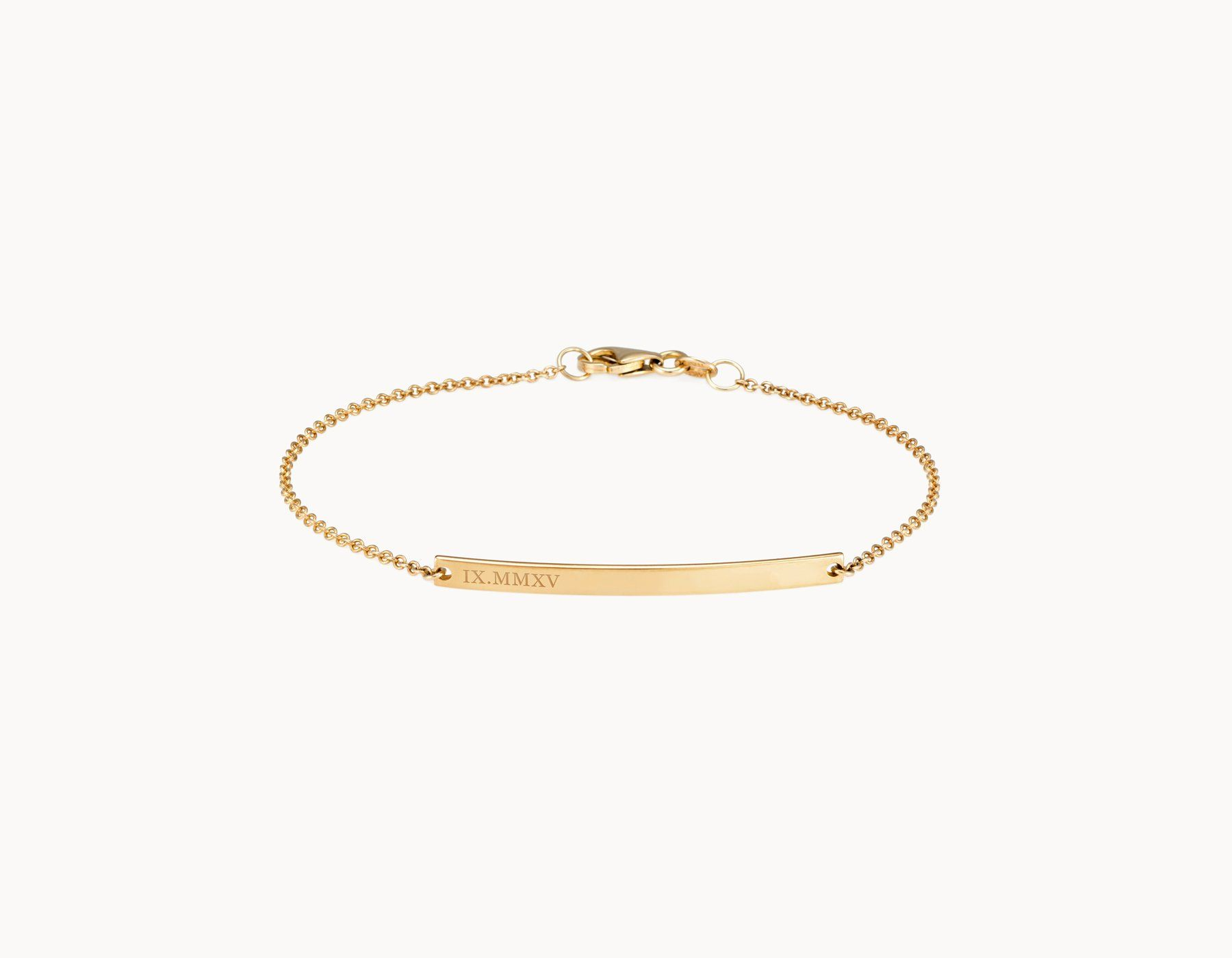filled original gold notonthehighstreet personalised jewellery by bracelet product bar minetta minettajewellery com