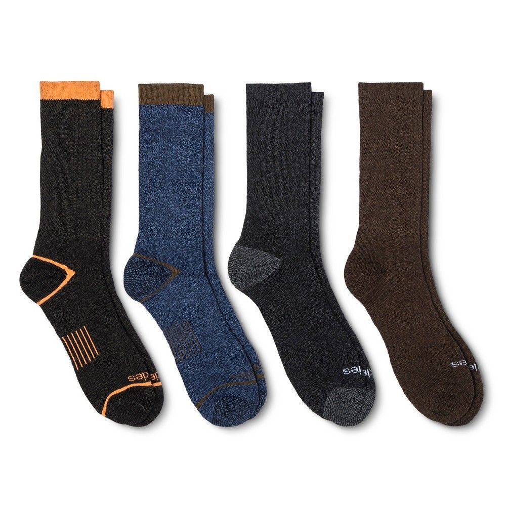 Men's Dickies 4pk All Season Crew Socks Black 10-13, Size: 6-12