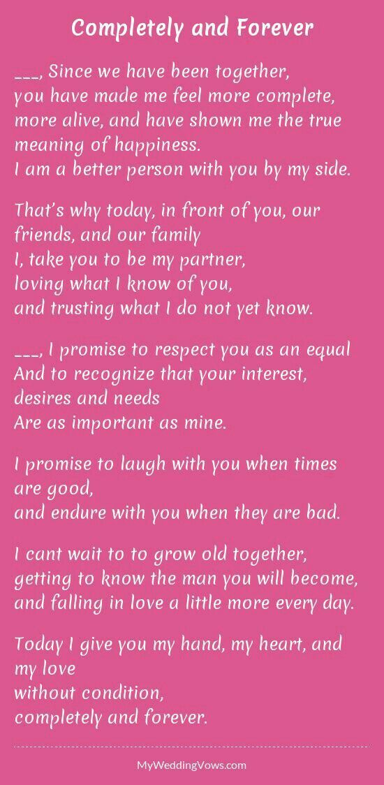 For My Own Renewal Of Vows Wedding Letterswedding Poemswedding