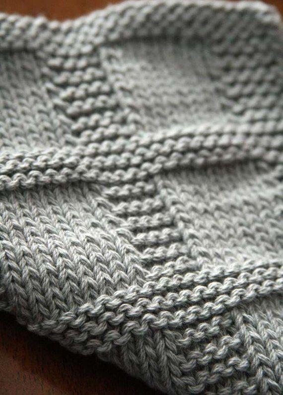 Knitting Pattern Dishcloth Pattern Washcloth Pattern #knittingtips