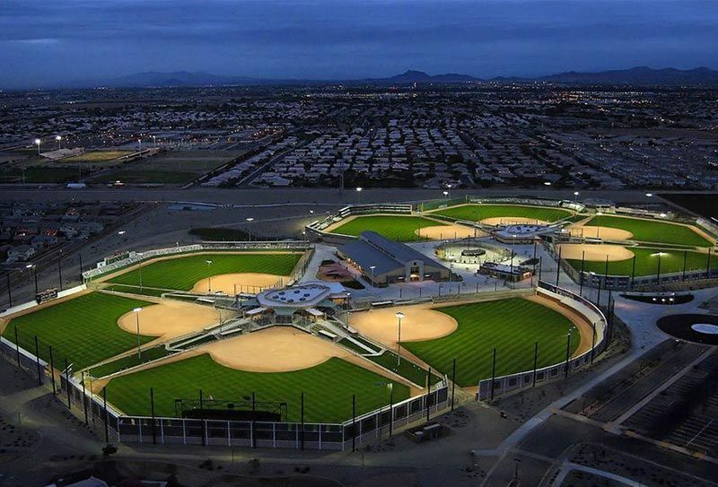 Elliot district park in gilbert az baseball field