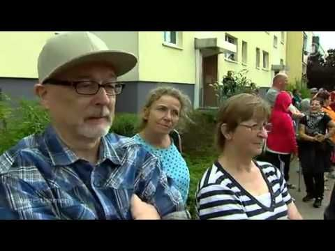 "ARD Tagesthemen 19.08.2013: Streit über Berliner Asylbewerberheim / ""racism in Germany?""- indeed. Germans protesting against a refugee shelter being put up in their neighborhood, in Berlin."