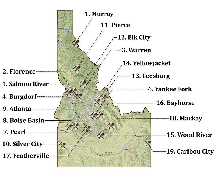 silver city idaho map 19 Of The Richest Gold Mining Towns In Idaho Map Gold Mining silver city idaho map