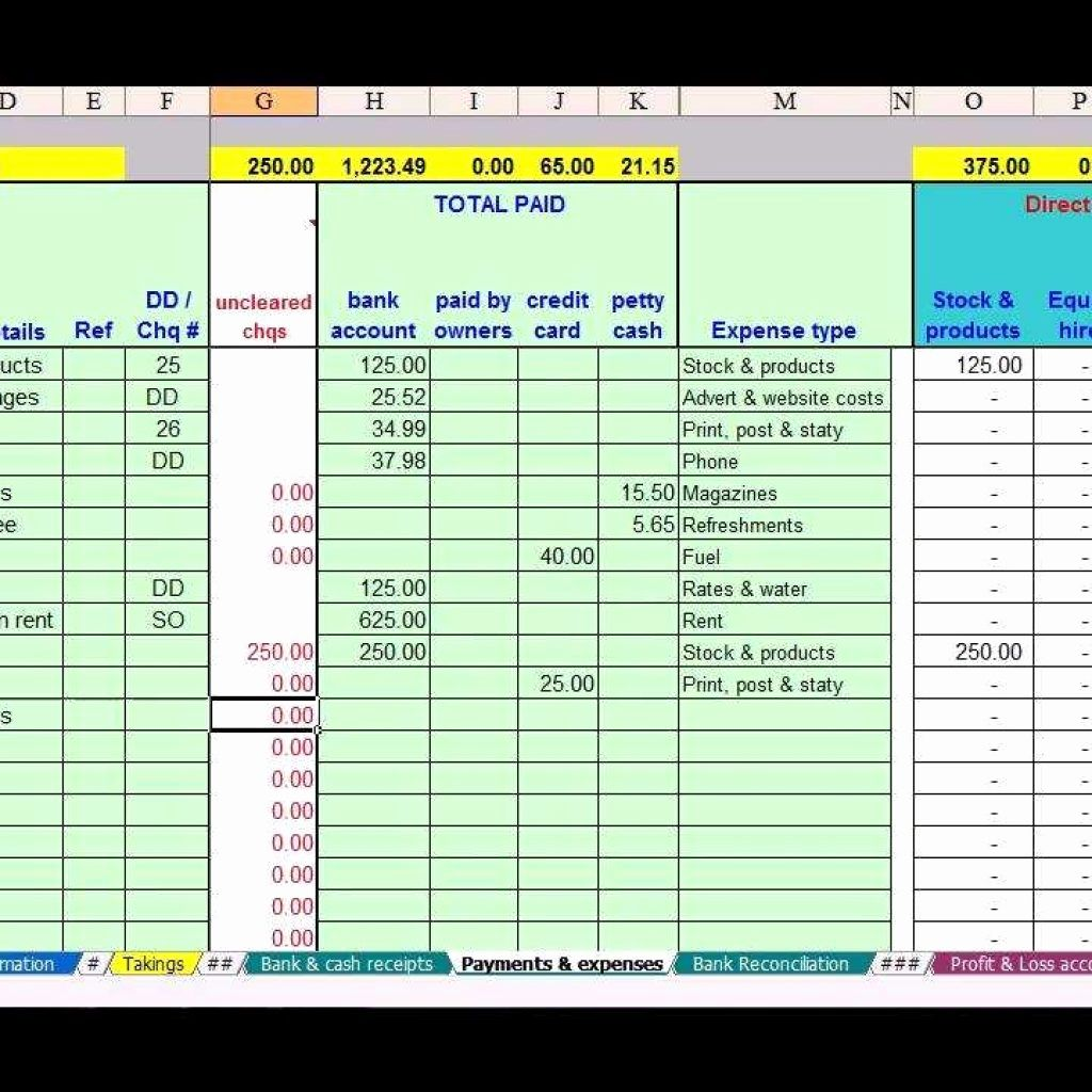 The Wonderful Basic Accounting Spreadsheet For Small Iness