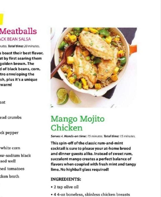 Mango Mojito Chicken #ClippedOnIssuu from clean eating