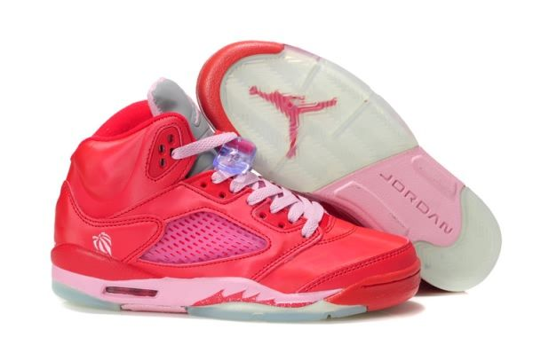 buy online 2a584 527bf Air Jordan Retro 5 Valentine's day Women's shoes Pink | Air ...