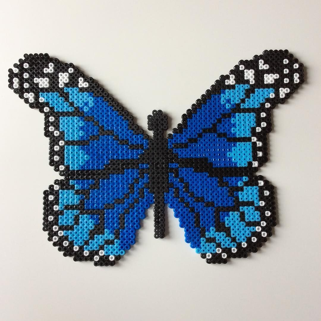 butterfly hama beads by the creative girls perler bead. Black Bedroom Furniture Sets. Home Design Ideas