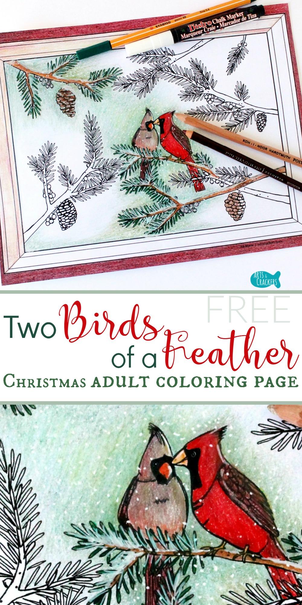 winter cardinals weihnachten malvorlagen für erwachsene
