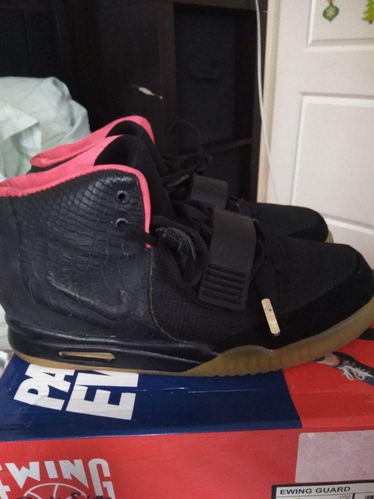Nike Air Yeezy 2 NRG Black Solar Red Basketball Shoes Men