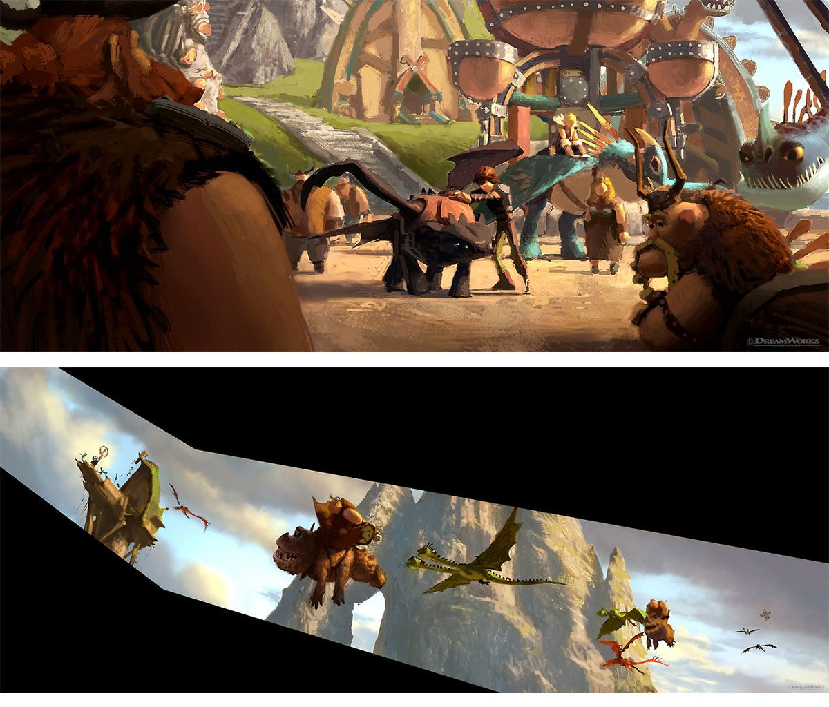 Novas artes de How to Train Your Dragons 2 (vários artistas) | THECAB - The Concept Art Blog