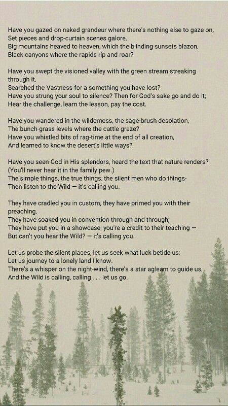 Brief Insights: The Call of the Wild - Robert Service Poem