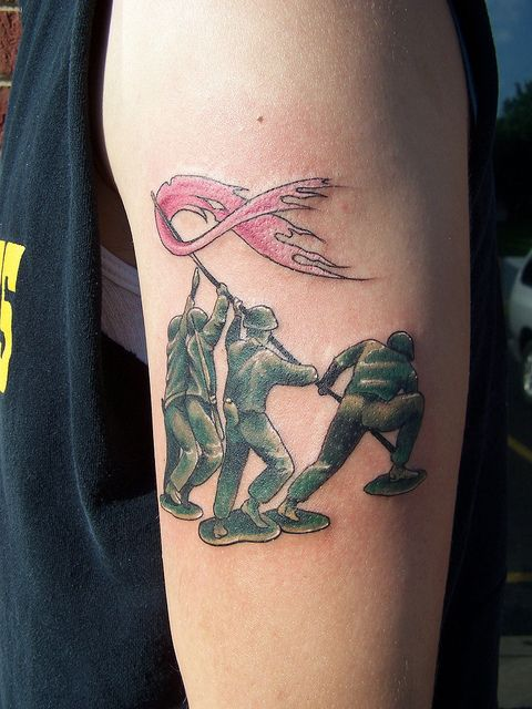 Toy Army Breast Cancer Tattoo Cancer Tattoos Fighting Cancer And Army