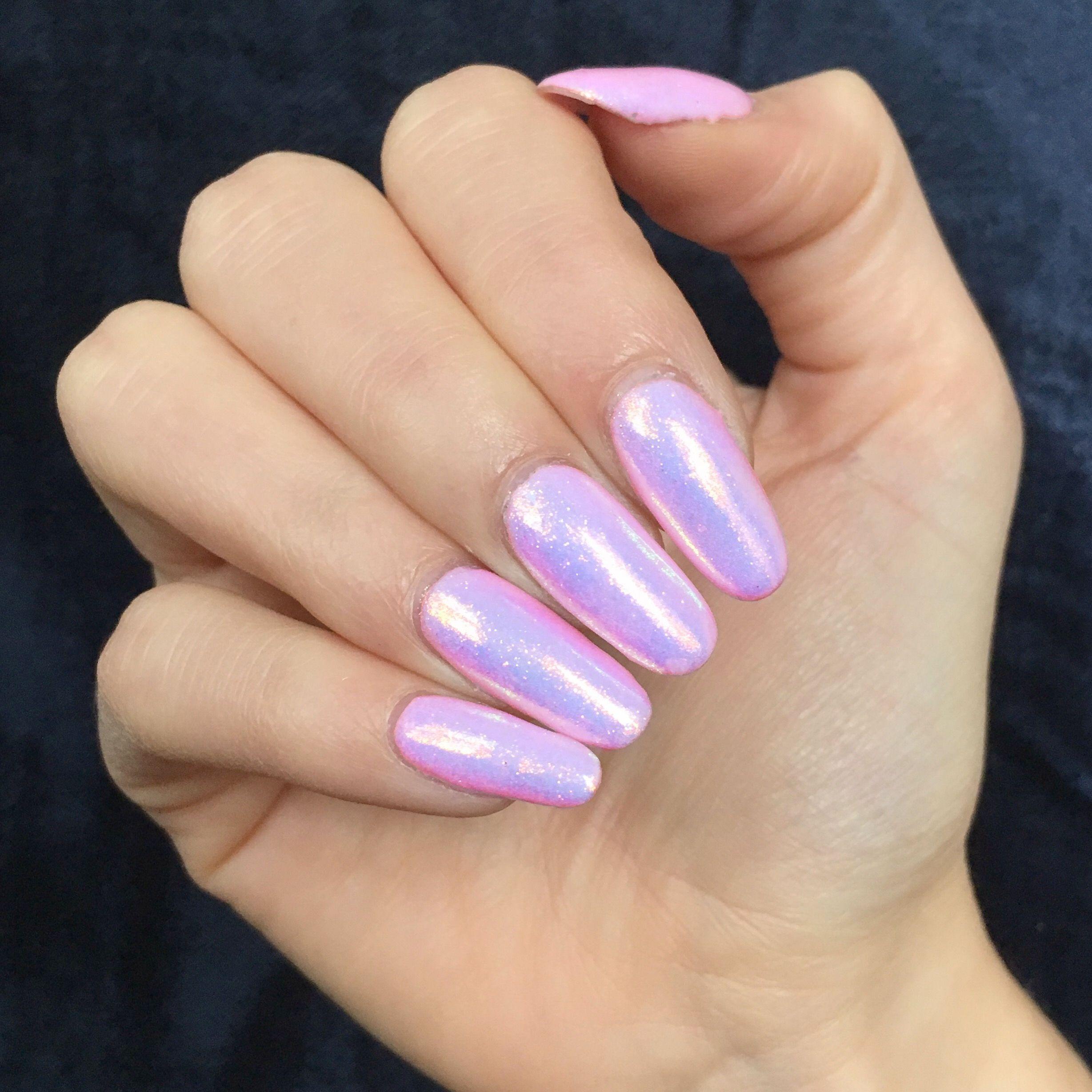 Pink Mermaid Effect Iridescent nails | ||nails|| | Pinterest ...