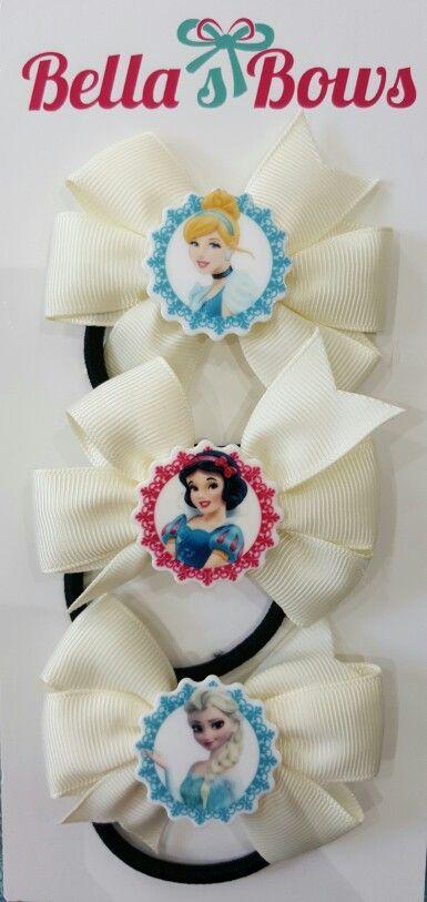 Disney Princess Hair Bands - available at Bella's Bows.