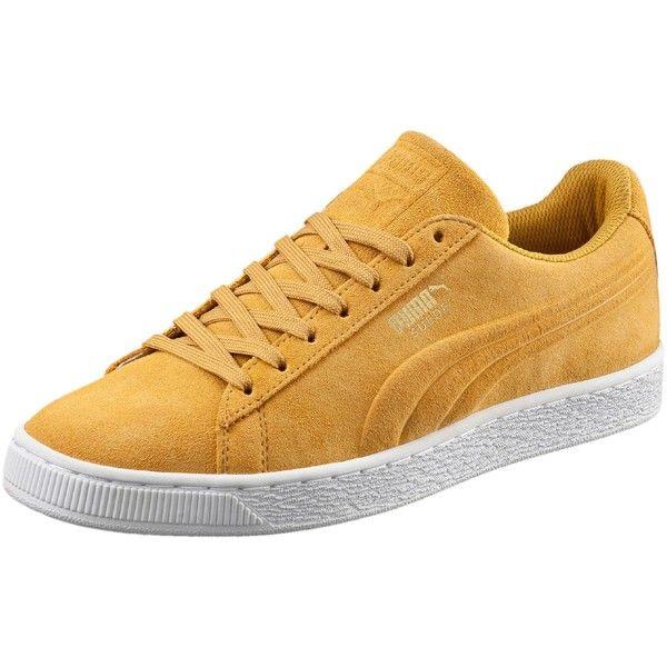 Puma Suede Classic Debossed Men's Sneakers Bright Gold