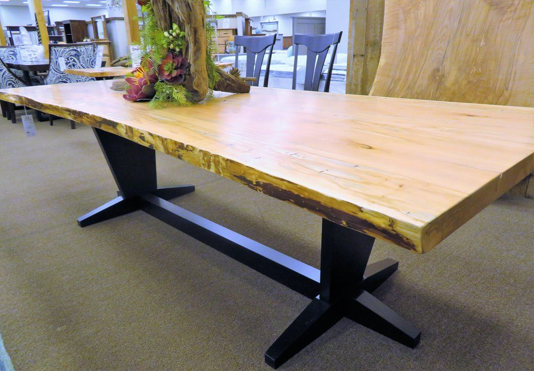 Live Edge Ambrosia Maple Wood Dining Table Decoracao