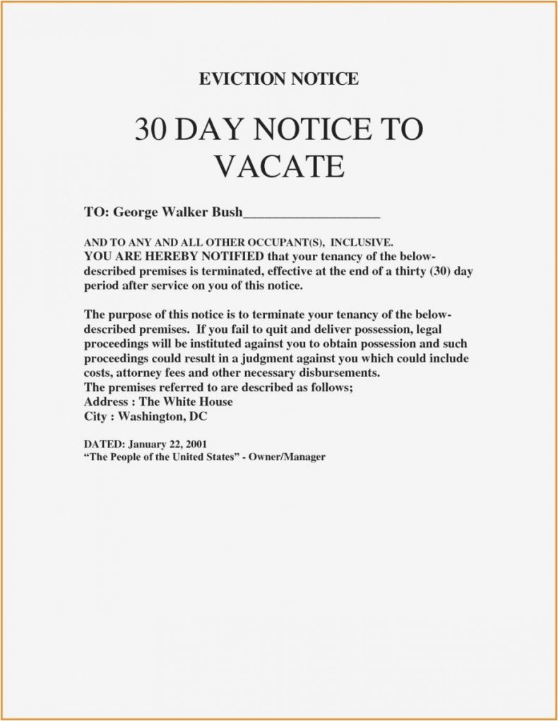 Browse Our Sample Of 30 Day Eviction Letter Template 30 Day Eviction Notice Eviction Notice Letter Templates Free