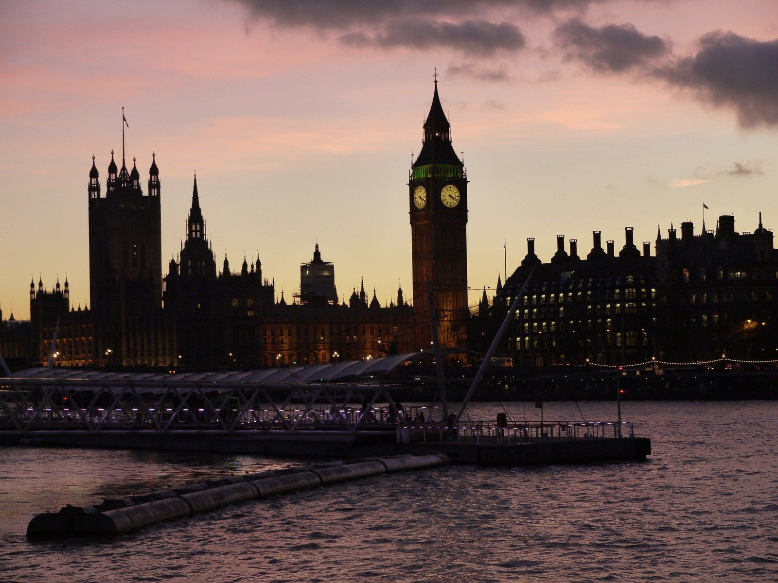 Clock Tower at dusk OP