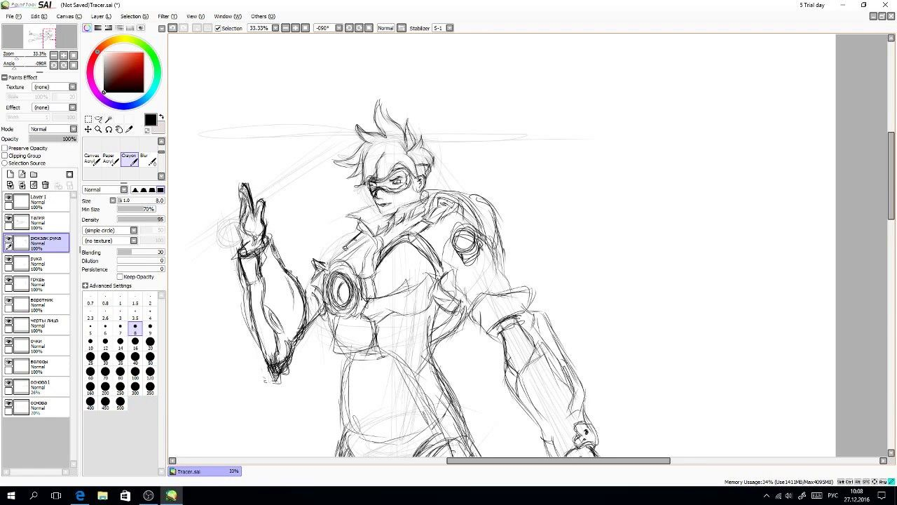 Speedpaint Draw Tracer from overwatch fun art | Drawing ...
