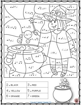 Music Coloring Pages 26 Halloween Color By Music Sheets Halloween Music Coloring Halloween Music Worksheets Halloween Music