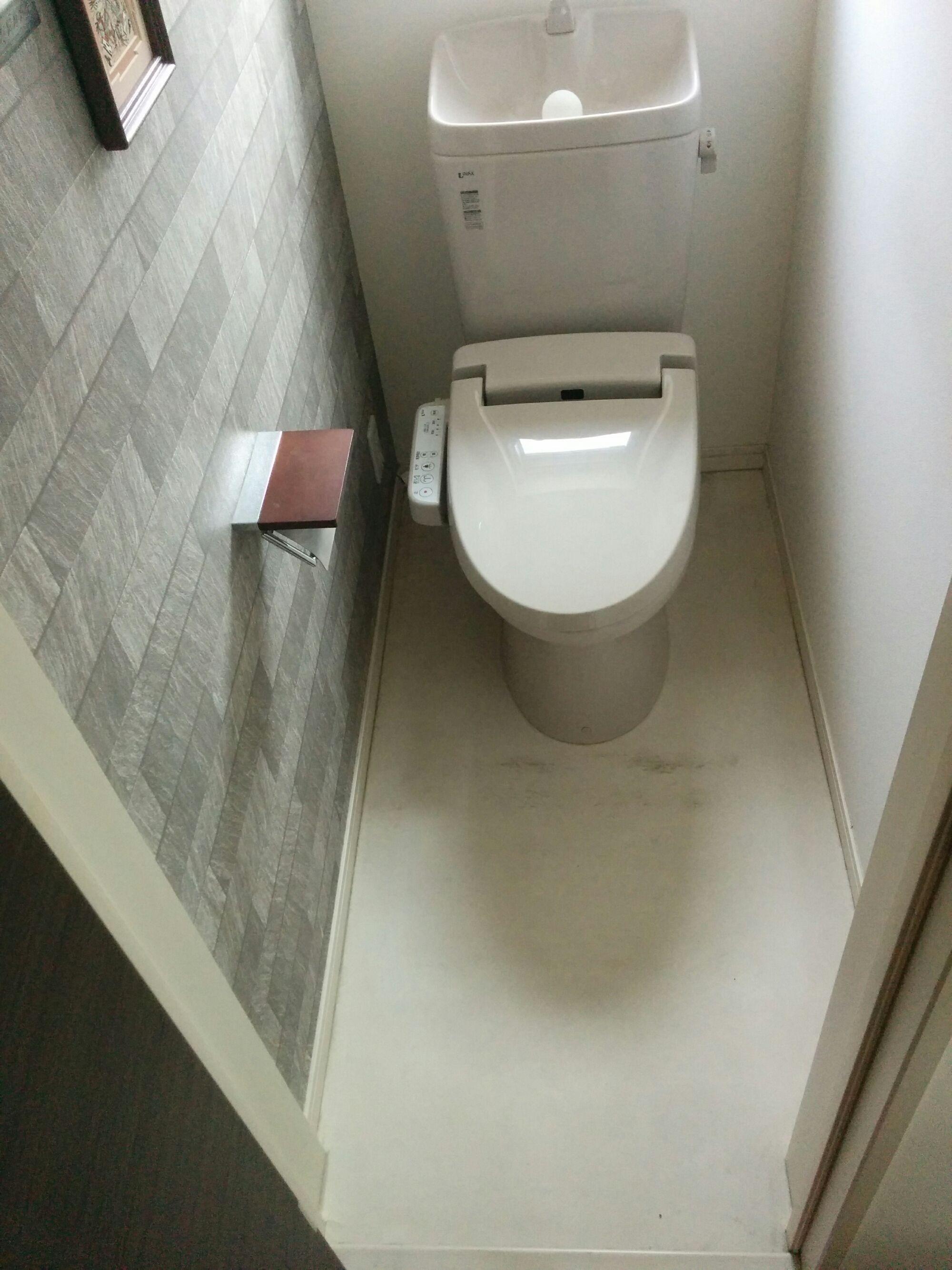 トイレリフォーム クッションフロアの張り替え リフォーム トイレ