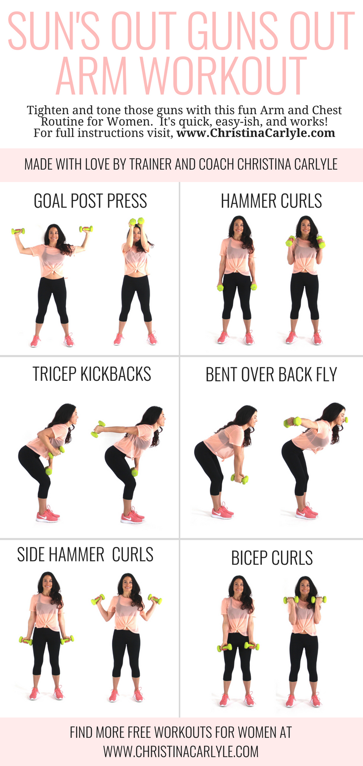 Arm Workouts Women: Arm Workout For Women With Dumbbells For Tight, Toned Arms