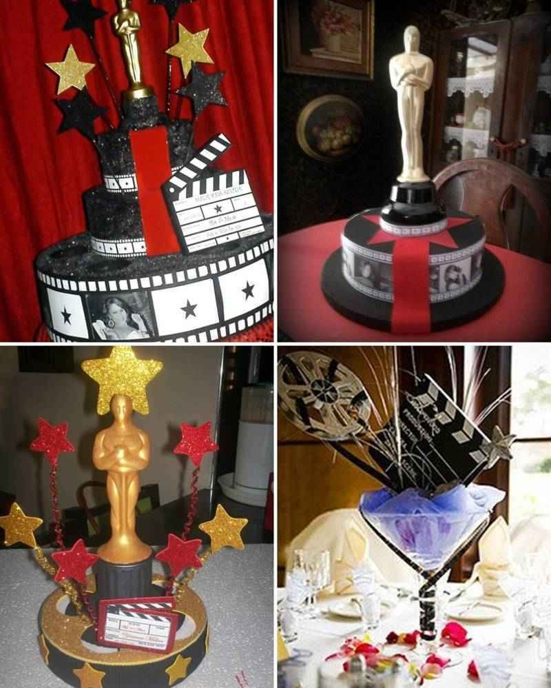 centros de mesa estilo hollywood (4)-tile   Adorno mesa ...