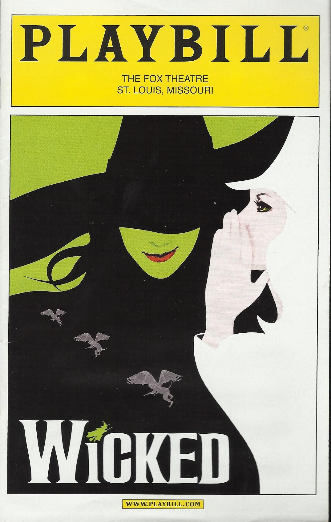Wicked Libro Wicked At The Fox Theatre St Louis Mo Missouri Pinterest