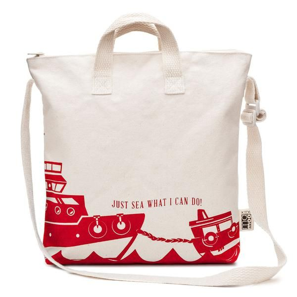 "VOYAGER in Red Sea Boat Kids Zipper Tote Bag - mamookids - 1 VOYAGER in Red Sea Boat Kids Zipper Tote Bag - mamookids - 2 VOYAGER in Red Sea Boat Kids Zipper Tote Bag - mamookids - 3 VOYAGER in Red Sea Boat Kids Zipper Tote Bag - mamookids - 4   VOYAGER IN RED SEA BOAT KIDS ZIPPER TOTE BAG  $27.00 ADD TO CART Ahoy, matey! Aspiring sailors will be happy to set sail on their next voyage with this durable and modern VOYAGER tote inscribed with the phrase, ""Just sea what you can do!""in red. All…"