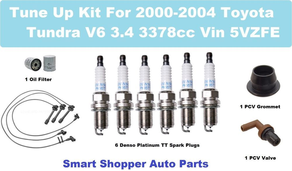 Details about Tune Up Kit 00-04 Toyota Tundra V6 Spark Plug ... on