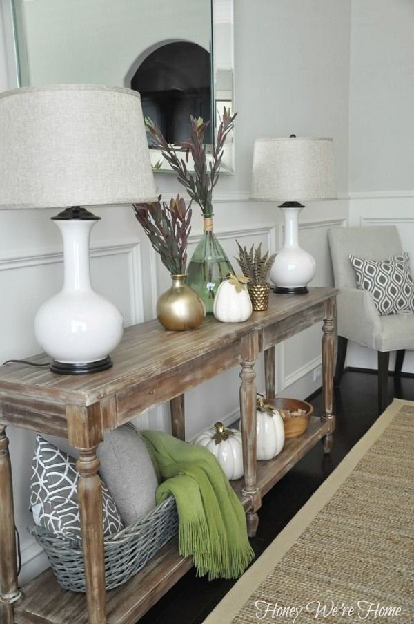 honey we re home fall decor console styling need to look at rh pinterest com