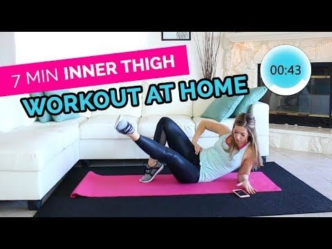 7 min inner thigh workout for women at home  thigh