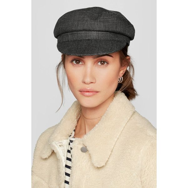 Étoile Isabel Marant Evie Prince of Wales checked linen hat (£125) via  Polyvore featuring accessories 22a3588033f