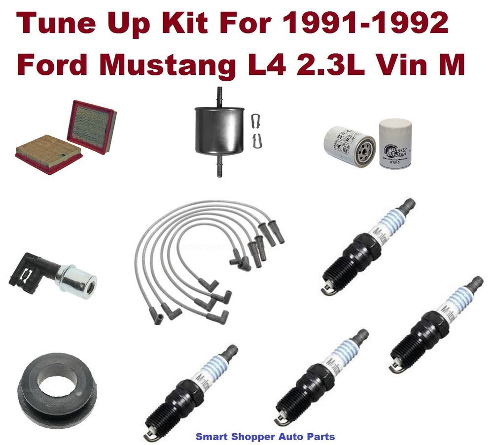 91-92 Ford Mustang L4 Spark Plug Wire Set, Spark Plug, Air Oil